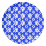 Snowflake 16 Blue Party Plate