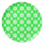Snowflake 16 Green Party Plate