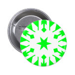 Snowflake 16 Green Pinback Buttons