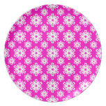 Snowflake 16 Pink Plate