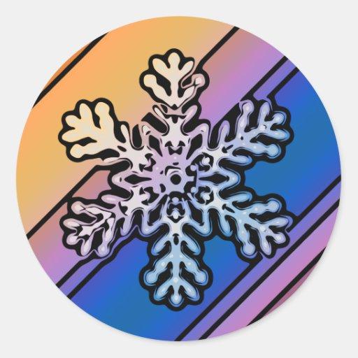 SNOWFLAKE 17 STICKERS