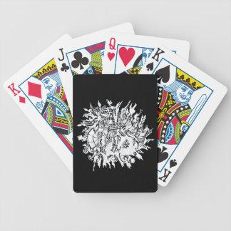 SnowFlake 1 Bicycle Playing Cards