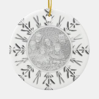 Snowflake 1st Christmas Together Photo Ornament
