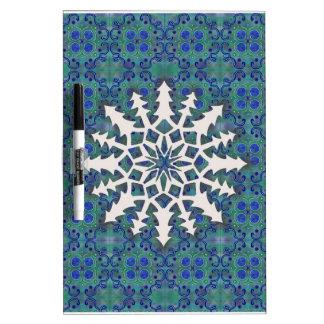 Snowflake #2 dry erase white board