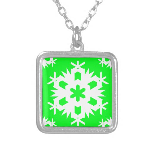 Snowflake 2 Green Custom Necklace