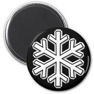 Snowflake 2 Inch Round Magnet