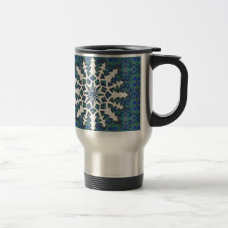 Snowflake #2 travel mug