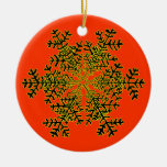 Snowflake 2 White Transp The MUSEUM Zazzle Gift... Christmas Tree Ornament