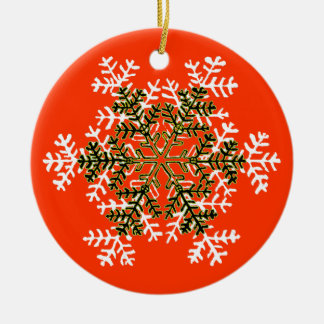 Snowflake 2 White Transp The MUSEUM Zazzle Gift... Christmas Ornaments