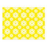 Snowflake 2 Yellow Postcards