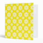 Snowflake 2 Yellow Vinyl Binders