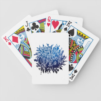 SnowFlake 3 Bicycle Playing Cards