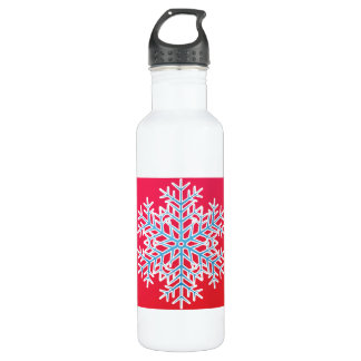 Snowflake 3 stainless steel water bottle