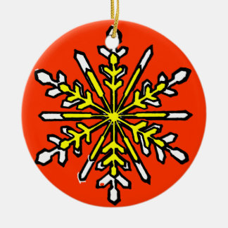 Snowflake 3 White Transp The MUSEUM Zazzle Gift... Christmas Tree Ornament