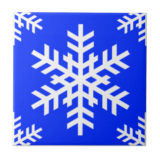 Snowflake 4 Blue Tiles