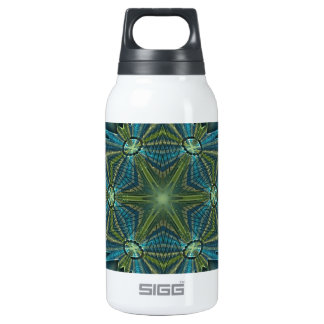 Snowflake #4 - Blues and greens Insulated Water Bottle