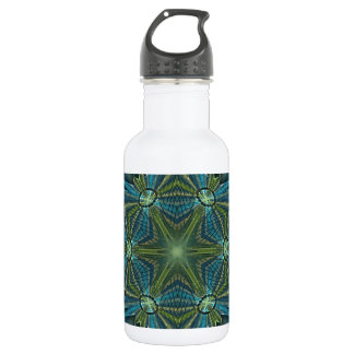 Snowflake #4 - Blues and greens 18oz Water Bottle