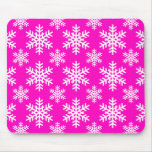 Snowflake 4 Pink Mouse Pad