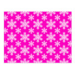 Snowflake 4 Pink Post Card