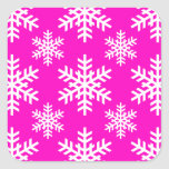 Snowflake 4 Pink Stickers