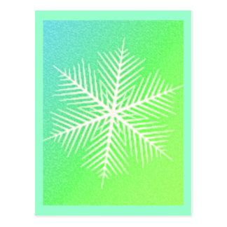 SNOWFLAKE 4 POSTCARD