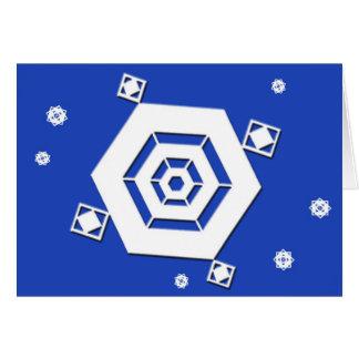 Snowflake 7 Happy Holidays Greeting Card