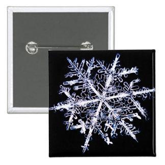 Snowflake 9 2 inch square button