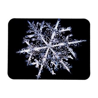 Snowflake 9 rectangular photo magnet