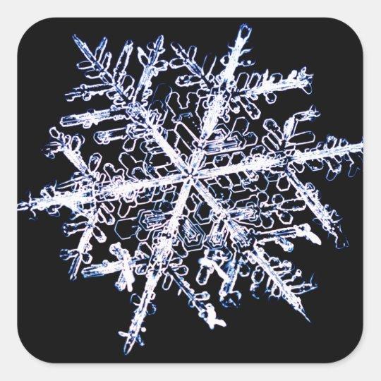 Snowflake 9 square sticker