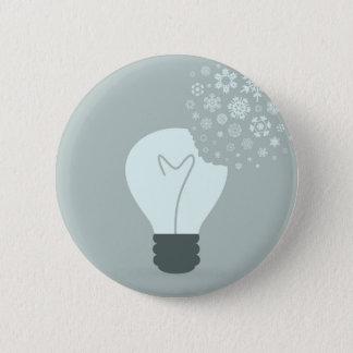 Snowflake a bulb2 pinback button