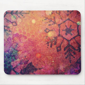 Snowflake Abstract Mouse Pad