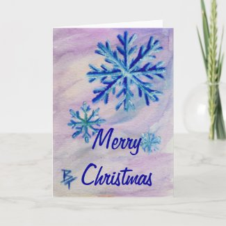 Snowflake ACEO Christmas Card card