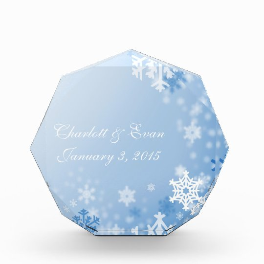 Snowflake Acrylic Wedding  Keepsake Acrylic Award