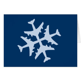 Snowflake Airplane Card