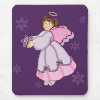 Snowflake Angel Mouse Pad