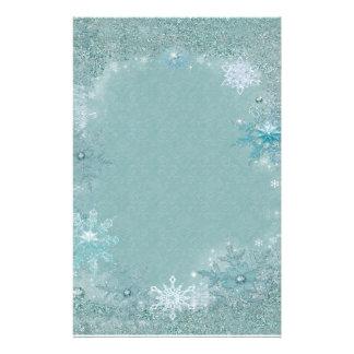 Snowflake Aqua Frost Stationery