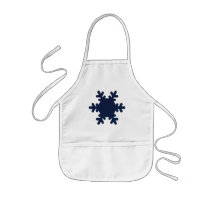 Snowflake Arts & Crafts / Cooking Apron - White
