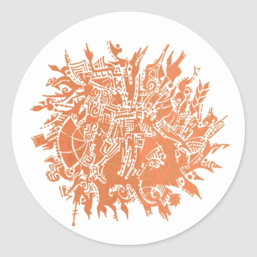 Snowflake B2 Classic Round Sticker