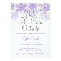 Snowflake Baby It's Cold Outside Baby Shower 1 Card
