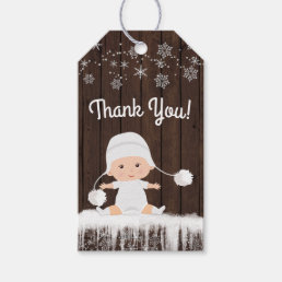 Snowflake Baby Shower Gift Tags