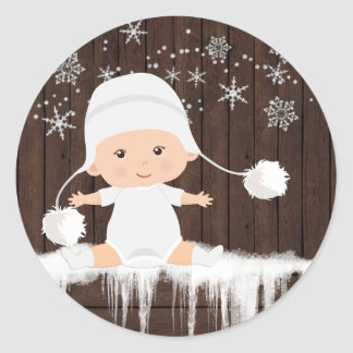 Snowflake Baby Shower Stickers