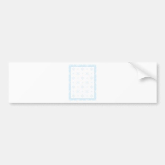 Snowflake Background Bumper Sticker