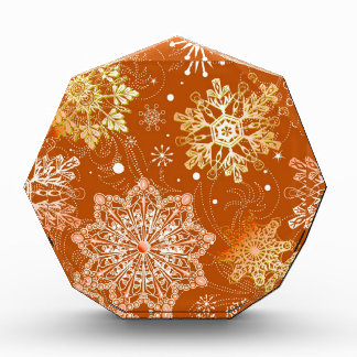 Snowflake background pattern,multiple products sel acrylic award