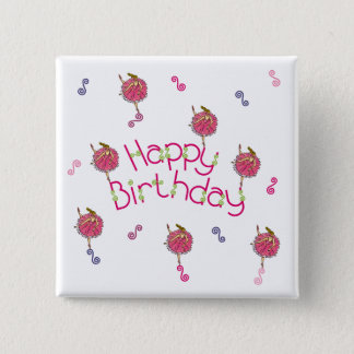Snowflake Ballerina Birthday Pinback Button