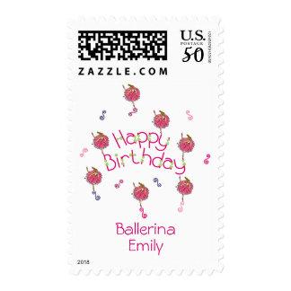 Snowflake Ballerina Birthday Postage