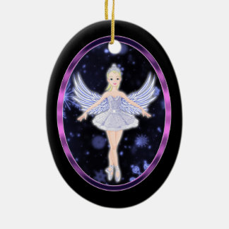 Snowflake Ballerina fairy Ceramic Ornament