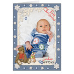 Snowflake Bear First Christmas Photo Greeting Cards
