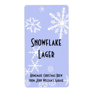 Snowflake Beer Label