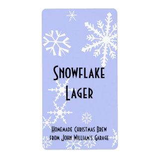 Snowflake Beer Label