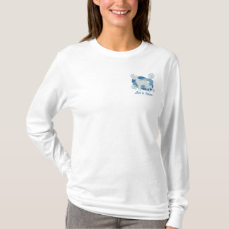 Snowflake Belgian Malinois Embroidered Long Sleeve T-Shirt
